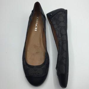Coach Chelsea Jacquard & Leather Ballet Flats